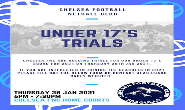 2020 U-17 Netball Try Outs